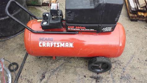 for sale sears craftsman 4hp 25gal air compressor