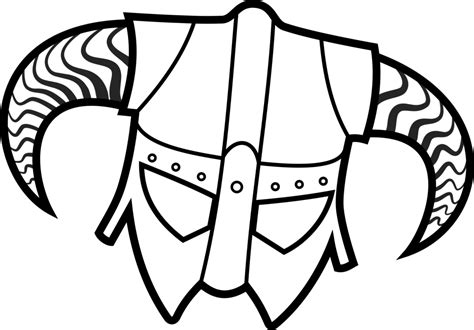 skyrim helmet easy coloring pages