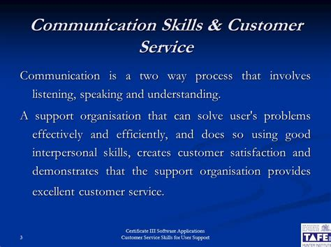 customer service skills for user support ppt