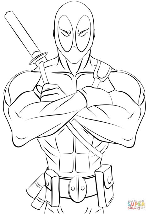 Coloring Page Deadpool by Deadpool Coloring Pages Coloring Home