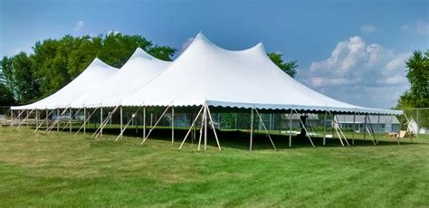 tent event rope and pole event wedding tent rental in iowa illinois