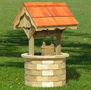 Wooden wishing well amish lawn ornaments decorative wishing wells
