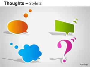 powerpoint templates for communication presentation communication thoughts 2 powerpoint slides and ppt diagram