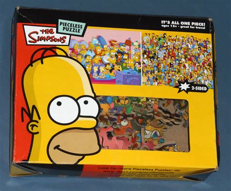 Puzzles For One All the simpsons pieceless jigsaw puzzle 2 sided all one