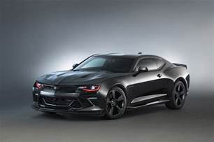 Chevrolet Camaro Pictures 2016 Chevy Camaro Black Concept At Sema Gm Authority