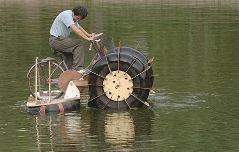 bicycle paddle boat practical and innovative homemade items by ordinary people