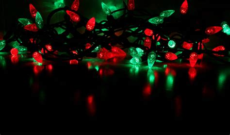 best 28 and green christmas lights blurred christmas