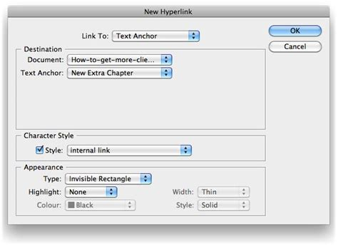 layout hyperlink word create interactive pdf with indesign