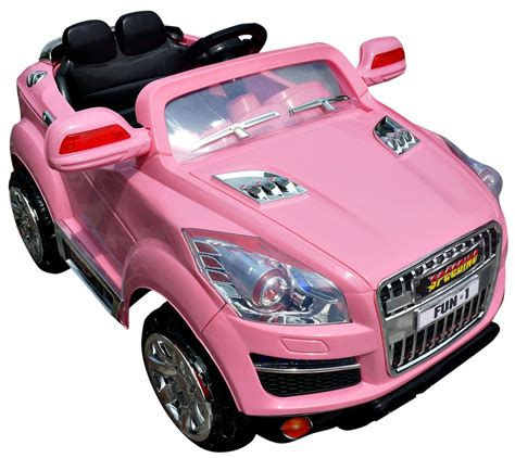 pink kid car girls pink crossover jeep 12v q7 style suv ride on 163 199