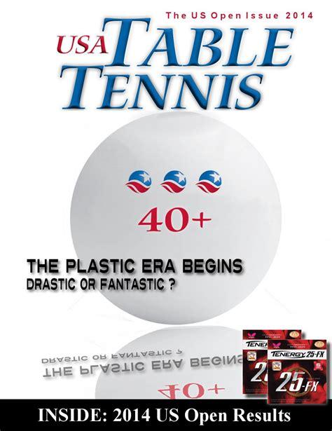 table tennis magazine usa table tennis magazine us open 2014 by tabletennisnow
