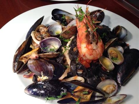 la veranda carshalton black tagliolini with seafood picture of la