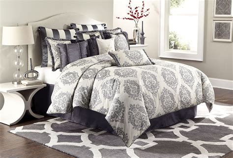12 piece comforter sets peyton graphite 12 piece queen comforter set from aico
