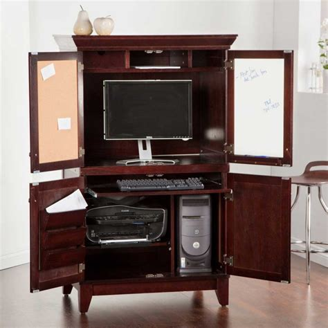 small home office desk armoire inspiring small computer armoire design home
