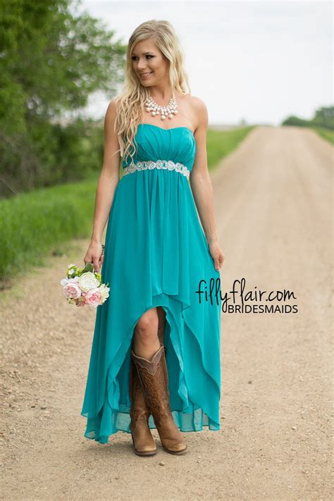 country dresses with boots the country wedding bridesmaid dress with boots