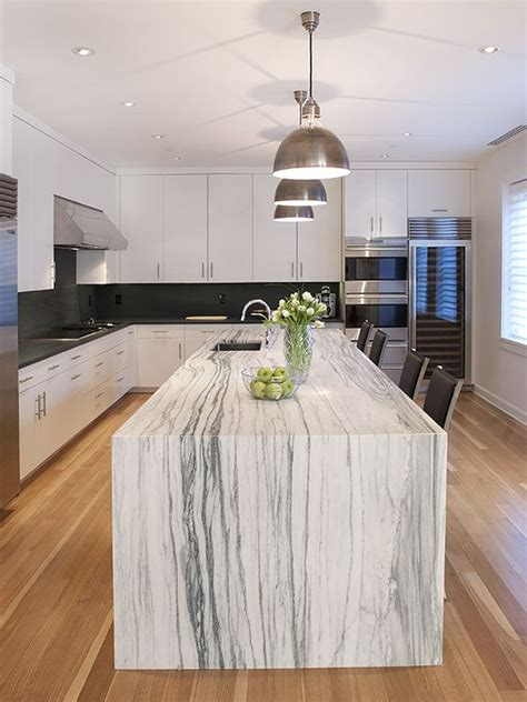 waterfall countertop 32 trendy and chic waterfall countertop ideas digsdigs