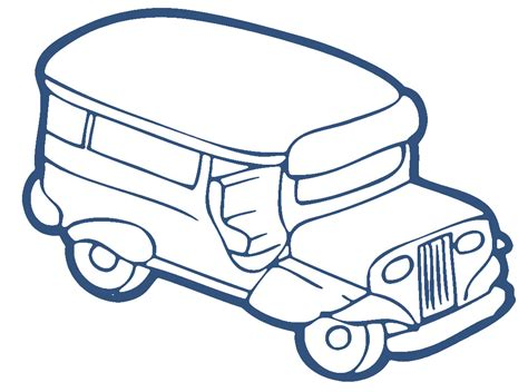 philippine jeep drawing jeepney clipart black and white www pixshark com