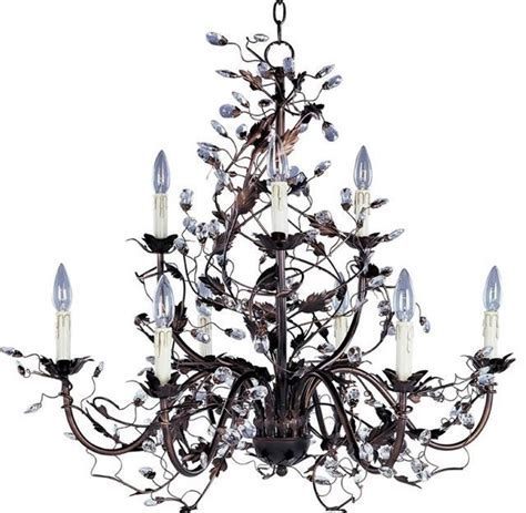 Bronze Chandelier With Crystals Lampadari In Ferro Battuto Lampadari