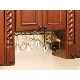 under cabinet stemware rack lowes shop rev a shelf double wine bottle rack orb at lowes