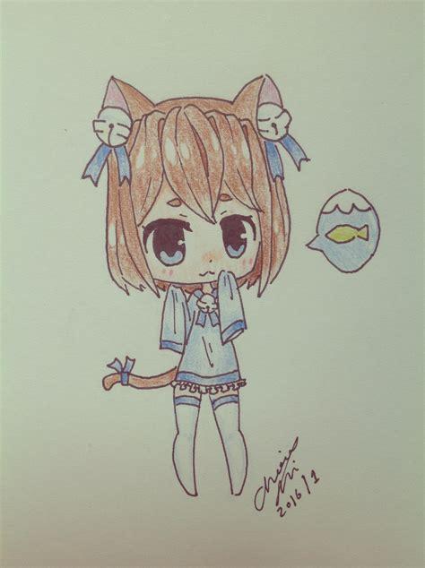 kawaii sketchbook kawaii neko chibi sketch by cheesenketchup on
