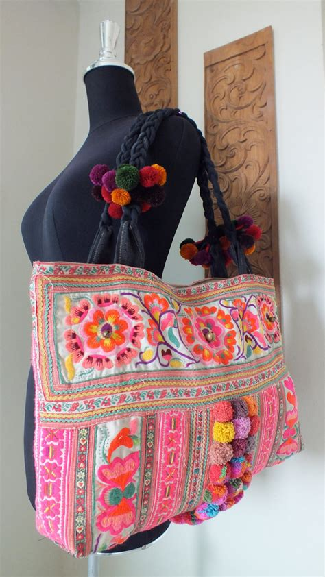 ethnic handmade bag vintage fabric bohemian bags and purses