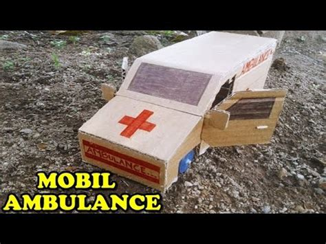 membuat mobil dari kardus ide kreatif membuat mobil ambulance mainan dari kardus