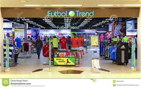 türen shop futbol trend soccer retail store hong kong editorial
