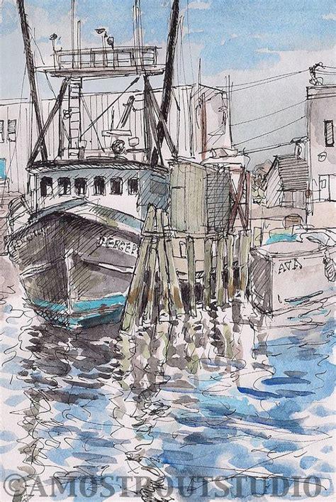 living on a boat in rhode island scenic fishing boat trawler at dock rhode island art