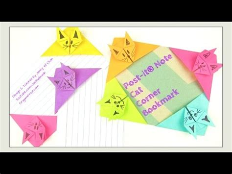 Post It Craft Paper - paper crafts origami cat post it 174 note crafts diy
