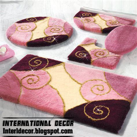 pink bathroom rug sets 10 modern bathroom rug sets baths rug sets models colors