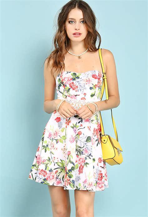 Flowery Charm Mini Dress floral mini dress shop dresses at papaya clothing
