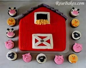 farm barn cake a barnyard barn cake farm animals cupcakes cakepops