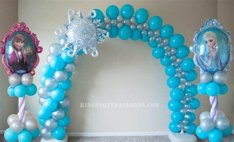 arreglos con globos de frozen decoracion cumplea os frozen cebril com