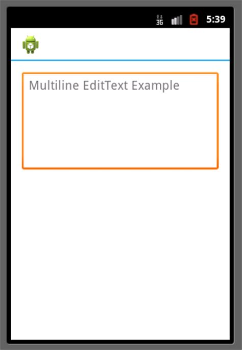 edittext android multiline edittext in android exle code2care