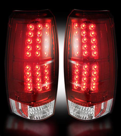 2007 chevy avalanche tail lights recon red led tail lights for 2007 2013 chevy avalanche