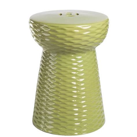 abbyson living lavenda ceramic garden stool in lime green