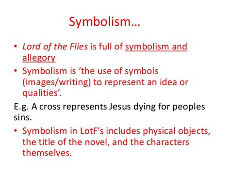 list of symbols in lord of the flies lord of the flies by william golding overciew ppt