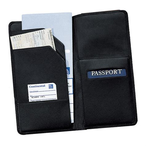Paspor Organizer royce leather 174 oversized airline ticket and passport holder 160031 wallets at sportsman s guide