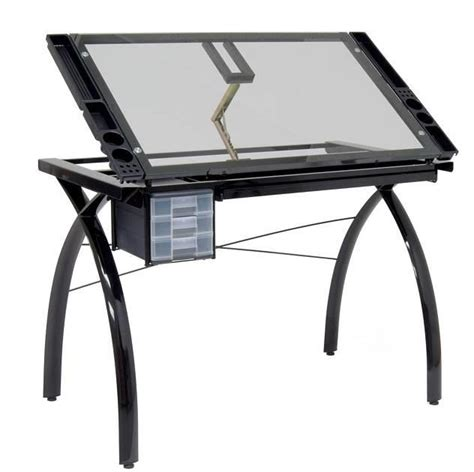 Studio Drafting Table Studio Designs Futura Drafting Table With Glass Top Tadd Ebay