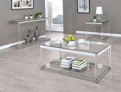 clear acrylic sofa table chrome and clear acrylic sofa table 720749 coaster furniture