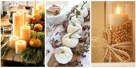 simple table decorations to make 40 fall and thanksgiving centerpieces diy ideas for fall