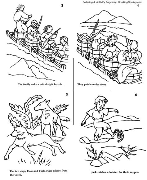 coloring pages for swiss family robinson swiss family robinson coloring book pages coloring pages