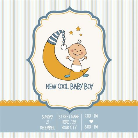 Vintage Baby 1 vintage baby boy shower card vector free