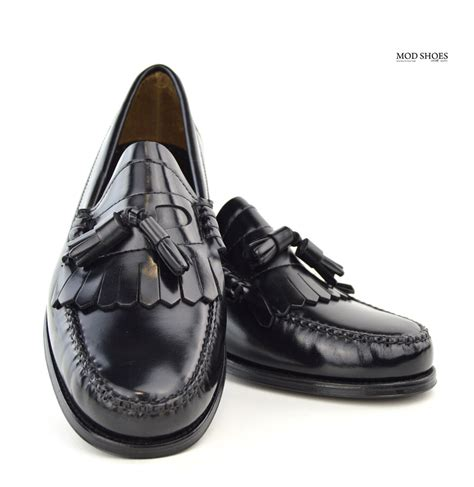 black loafers shoes black tassel loafers the duke by modshoes mod shoes