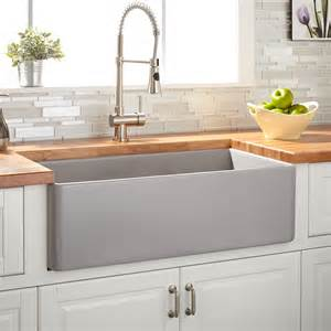 30 quot reinhard fireclay farmhouse sink gray kitchen