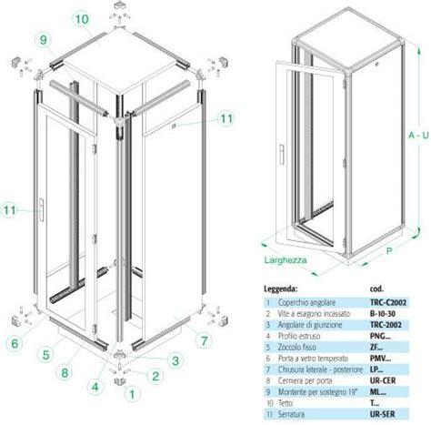 struttura armadio armadio 12 unita armadio rack 12u x 596 x 996 struttura