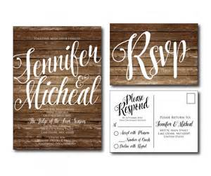 rustic wedding invitation country chic fall wedding printable wedding invitation rsvp