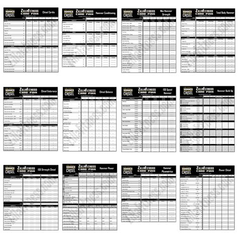 beast workout sheet the master s hammer and chisel worksheets zillafitness