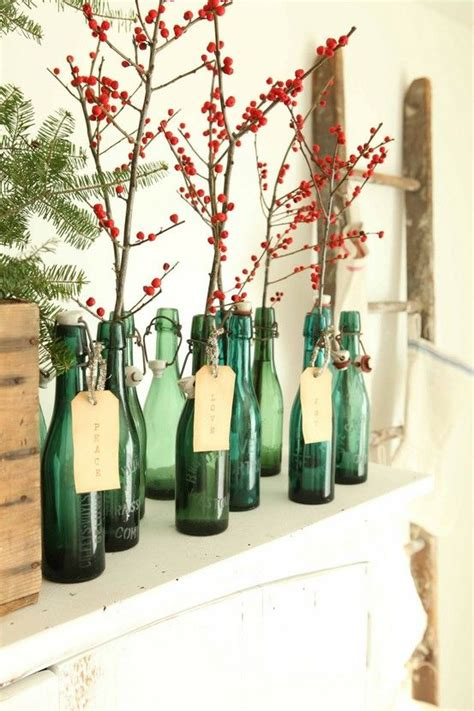 simple christmas and winter mantle idea zero waste