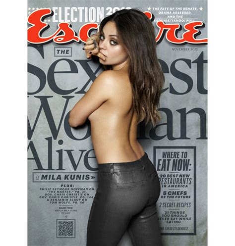 Esquire Magazine Presents Mila Kunis As The Sexiest Woman Sidewalk Hustle Sexiest Alive Magazine Cover Template