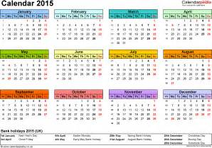 2015 Calendar Spreadsheet Excel Calendar 2015 Uk 16 Printable Templates Xls Xlsx